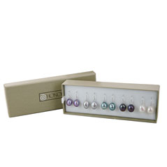 HONORA Dark Multi Colored Pearl Dangle Earring Box Set