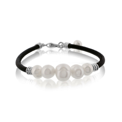 HONORA Freshwater Pearl Leather Bracelet