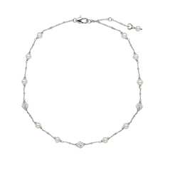HONORA Kids Tin Cup Pearl Necklace