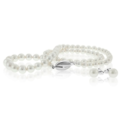 HONORA Pearl Necklace & Stud Set