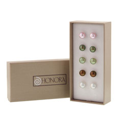 HONORA Pearl Stud Earring Box Set