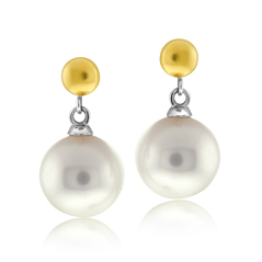 HONORA White Pearl Drop Earrings