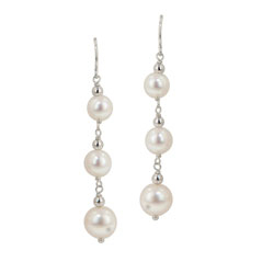 HONORA White Potato Pearl Dangle Earrings