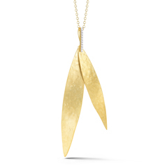 I. REISS Diamond Feather Pendant