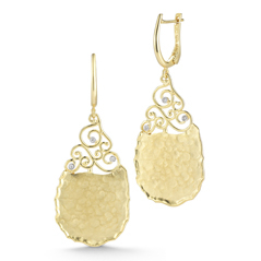 I. REISS Filigree Diamond Earrings
