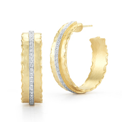 I. REISS Gallery Diamond Hoop Earrings