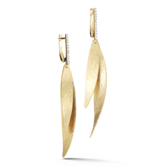 I. REISS Leaf Diamond Earrings