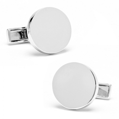 Infinity Edge Round Engraveable Cufflinks