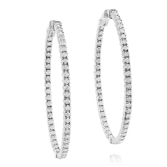 Inside Out Diamond Hoop Earrings