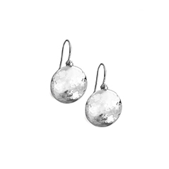 IPPOLITA Sterling Silver Hammered Dome Earrings