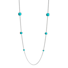 IPPOLITA Sterling Silver Lollipop Station Necklace in Turquoise