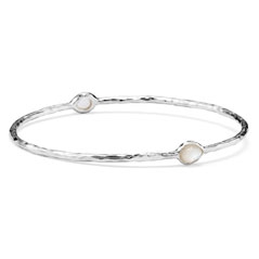 IPPOLITA Sterling Silver Rock Candy 2-Stone Bangle In Mother-Of-Pearl