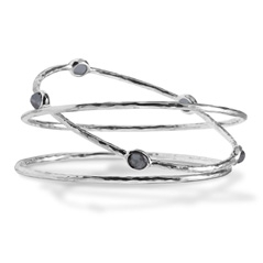 IPPOLITA Sterling Silver Rock Candy Bangle Trio in Hematite