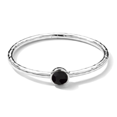 IPPOLITA Sterling Silver Rock Candy Hinge Bangle in Black Onyx
