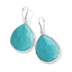 IPPOLITA Sterling Silver Rock Candy Large Teardrop Earrings in Turquoise