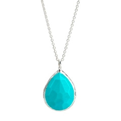IPPOLITA Sterling Silver Rock Candy Large Teardrop Pendant Necklace in Turquoise