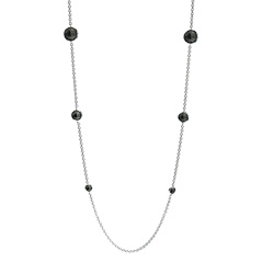 IPPOLITA Sterling Silver Rock Candy Lollipop Station Necklace in Black Onyx