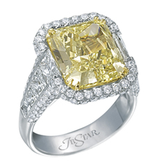 JB STAR Complete 10.42 Carat Fancy Yellow Diamond Ring