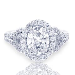 J.B. STAR Complete 3.08 Carat Diamond Engagement Ring
