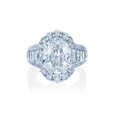 JB STAR Platinum 8.78 Carat Complete Diamond Engagement Ring