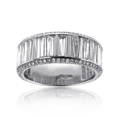JB Star Platinum Baguette Diamond Ring