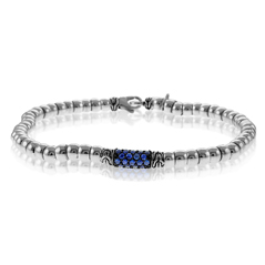 JOHN HARDY Bedeg Lava Beaded Bracelet With Blue Sapphires