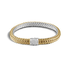 JOHN HARDY Small Diamond Reversible Classic Chain Bracelet