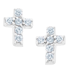 Kids Cross Earrings