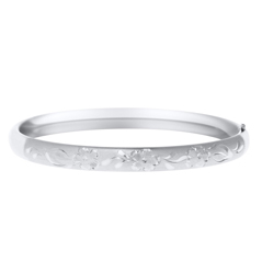 Kids Engraved Floral Vine Bangle