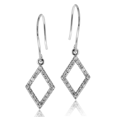Kite-Shaped Diamond Earrings