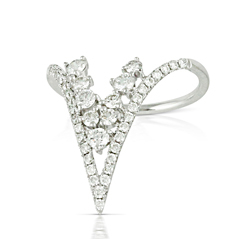 Little Bird Collection Diamond 'V' Fashion Ring