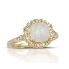 Little Bird Collection Moonstone & Diamond Ring