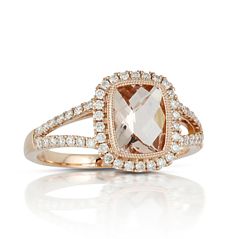 Little Bird Collection Morganite & Diamond Ring