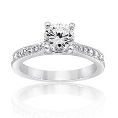 Luminous Diamond Engagement Ring