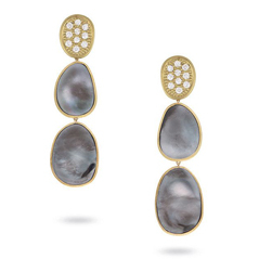 MARCO BICEGO Lunaria Black Mother-of-Pearl & Diamond Earrings