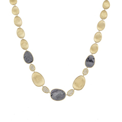 MARCO BICEGO Lunaria Black Mother-of-Pearl & Diamond Necklace