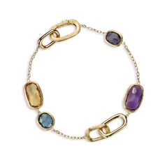 MARCO BICEGO Murano Link Mixed Stone Chain Bracelet