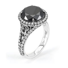 MICHAEL M Complete 7.78 Carat Black & White Diamond Ring