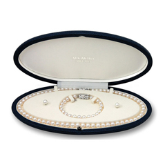 MIKIMOTO Three Piece Akoya Pearl Set
