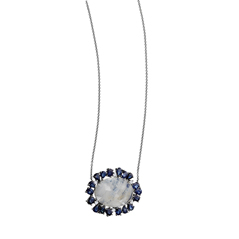 Moonstone & Sapphire Necklace