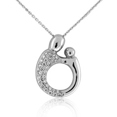 Mother & Child Diamond Necklace