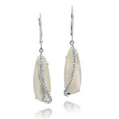 Mother-of-Pearl & Diamond Earrings