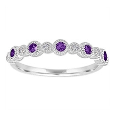 MY STORY Amethyst & Diamond Ring