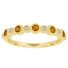 MY STORY Citrine & Diamond Ring