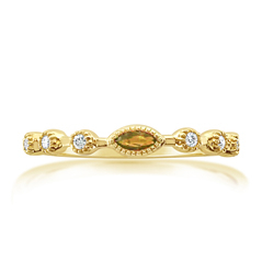 MY STORY Citrine & Diamond Stackable Ring