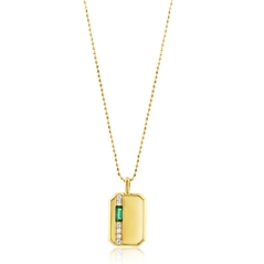 MY STORY Emerald & Diamond Pendant