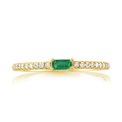 MY STORY Emerald & Diamond Ring