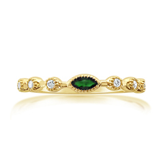 MY STORY Emerald & Diamond Stackable Ring