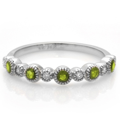 MY STORY Peridot & Diamond Ring