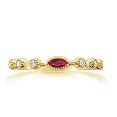 MY STORY Ruby & Diamond Stackable Ring